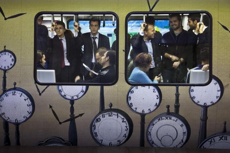 Istanbul, Turkey. Subway in  Gayrettepe by Bruno Barbey, 2009