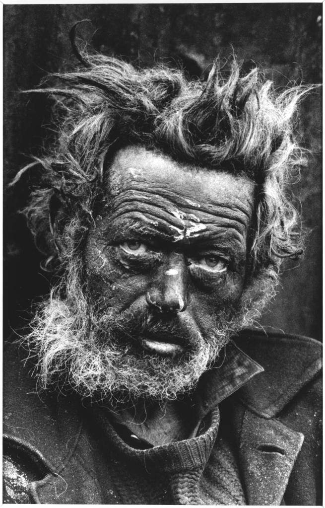 Homeless Irishman, Aldgate, East End, London 1970 - Don McCullin