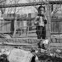 D.C. Boy playing in the backyard of his home, 1942 - Gordon Parks
