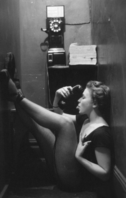 Mary Ellen Terry speaking on the phone, LIFE Magazine, 1952 - Gordon Parks